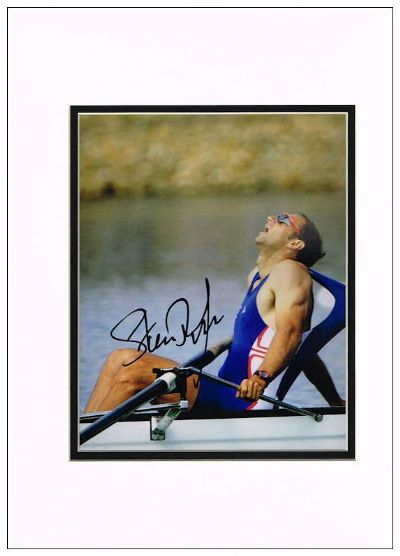 Steve Redgrave Authentic Autograph Signed Photo